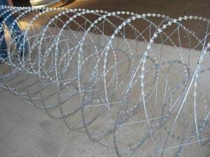 double spiral concertina razor wire