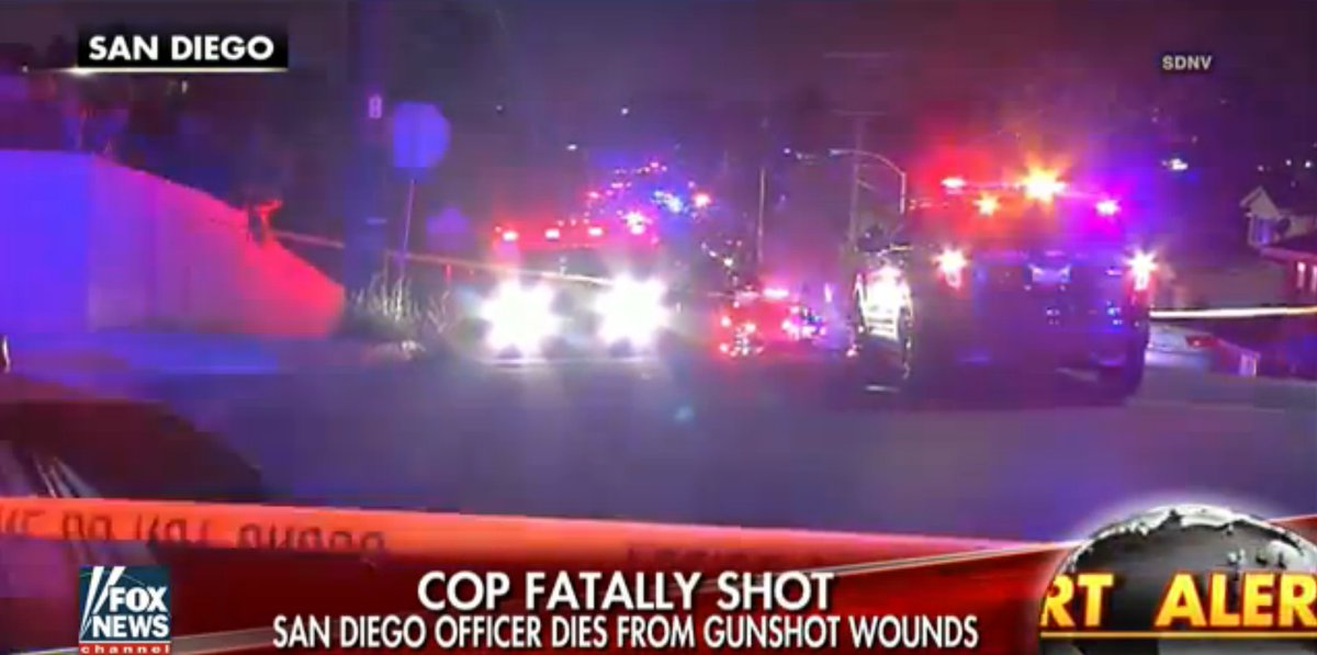 American San Diego Shooting: One Officer killed ,One Wounded