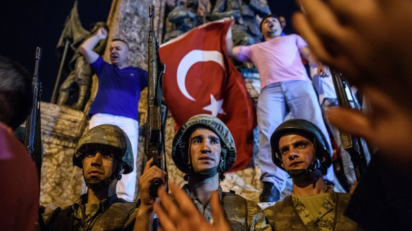 Turkish President Appears In Public After Military Coup Attempt Occur