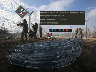 Razor wire barriers